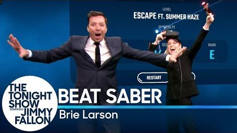 Beat Saber with Brie Larson
